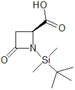 (4S)-N-(tert-Butyldimethylsilyl)azetidin-2-one-4-carboxylic acid