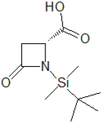 (4R)-N-(tert-Butyldimethylsilyl)azetidin-2-one-4-carboxylic acid