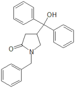 1-Benzyl-4-(hydroxy-diphenyl-methyl)-pyrrolidin-2-one