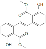 Methyl 2-hydroxy-6-[(E)-2-[3-hydroxy-2-(methoxycarbonyl)phenyl]ethenyl]benzoate